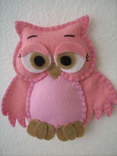 Felt Owls, Felt Birds, Felt Animals, Felt Christmas Ornaments, Christmas Crafts, Hobbies And Crafts, Crafts For Kids, Sewing Crafts, Sewing Projects