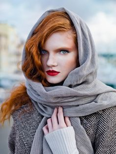 Udmurt Russian.  Love the makeup and hair color on her.