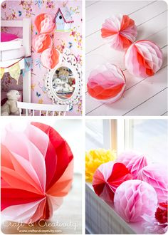 #DIY how to make a Honeycomb paper ball yourself! - by Craft & Creativity