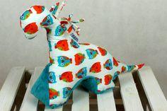 Sensory Toy Dinosaur Owls Teal by NuvaArt on Etsy