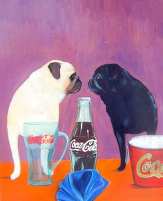 Hey, I found this really awesome Etsy listing at https://www.etsy.com/listing/174072508/pug-art-print-of-an-original-oil