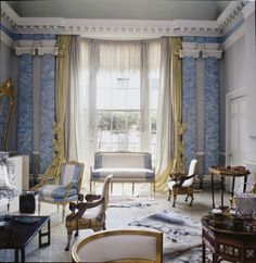 Pauline de Rothschild's famous drawing room in 1976. Photo by Derry Moore for T magazine