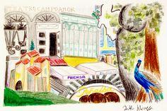 #ilustración #ciudadesdelmundo #viajes #ilustraciones #ACUARELA #DIBUJO #drawing #illustrations #collage #acuarelle #art #travel #drawing #illustration #oviedocity #oviedo #ciudades #travelpictures #citiesoftheworld #postal #elfontan #teatrocampoamor #peñalba #laregenta #parquesanfrancisco #culusmonumentalis #calatrava #sanmigueldelillo #RuthAlvarez
