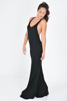 Spin Gallery   Baby Got Back Black Maxi Dress