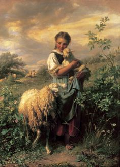 The Young Shepherdess Prints by Johann Baptist Hofner at AllPosters.com