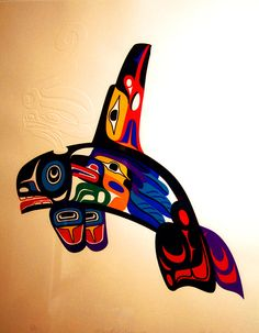 I like these colors----pacific northwest tattoos designs | whale tattoo ideas - a gallery on Flickr