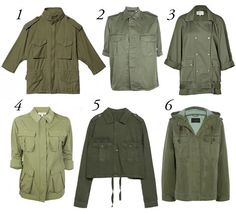 I can never have enough.  Wardrobe failsafe: the army jacket
