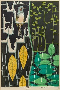 Shiro Kasamatsu, woodblock