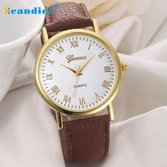 New 2016 Hot Selling Gold edges simple style Geneva Women Eiffel Tower Dial  Leather Band Analog 88d8c80f6552
