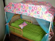 How To Turn A Bed Into A Canopy Bed Using PVC Pipes | Shelterness