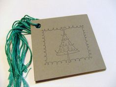 tree of lights // stamp for gift tags