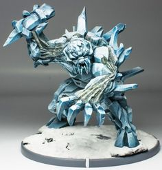 I tried painting ice once, I couldn't do it. This is the kind of effect I'd love to achieve.