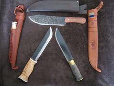 Wood Jewel Leuku-Puukko, Condor Hudson Bay Knife, Strømeng Old Fashioned Leuku