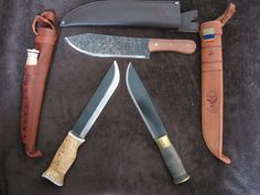 Wood Jewel Leuku-Puukko, Condor Hudson Bay Knife, Strømeng Old Fashioned Leuku
