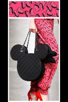 Who doesn't want a Mickey silhouette quilted bag?