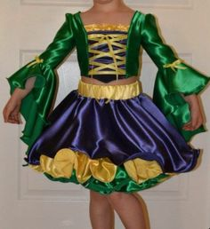 Mardi Gras Custom Pageant OOC Party Holiday Wear Costume Girls Size 5 7 | eBay