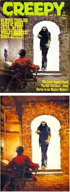 FRANK FRAZETTA - Creepy #3 - June 1964 Warren Publishing - print/cover by stendec8.blogspot.com