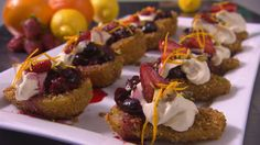Jake and Elle's Crusted Pear with Berry Compote from season 4 of My Kitchen Rules: http://gustotv.com/recipes/dessert/crusted-pear-berry-compote/