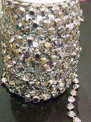 4 Carat Diamond Cut Acrylic Garland - Silver