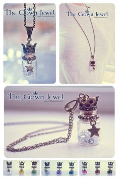 The Crown Jewel bottle necklace by Bea-Gonzalez.deviantart.com on @deviantART