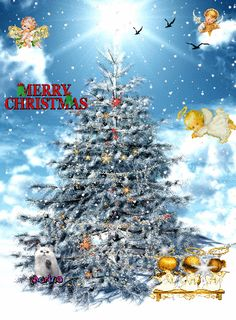 Merry Christmas Gif, Christmas Tree, Gifs, Holiday Decor, Home Decor, Teal Christmas Tree, Decoration Home, Room Decor, Xmas Trees