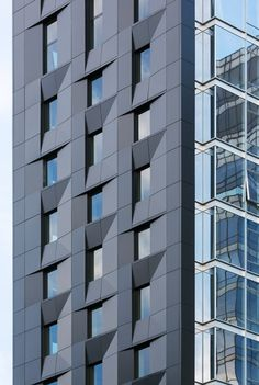 World Architecture Community News - SOM's Baccarat Hotel & Residences hits luxury design in New York Metal Cladding, Metal Facade, Som Architecture, Architecture Details, Facade Pattern, Architectural Pattern, Mix Use Building, Glass Facades, Building Facade