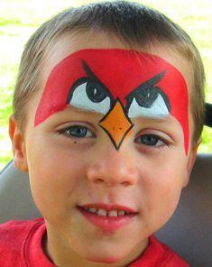 kinderschminken jungen motive angry birds