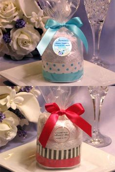 Bridal Shower TOWEL FAVORS IDEAS | Bridal Shower Towel Cake Favors Bridal Shower Decorations, Bridal Shower Favors, Wedding Favors, Bridal Showers, Baby Cupcake Gift, Personalized Towels, Towel Cakes, Shower Towel, Basket Crafts