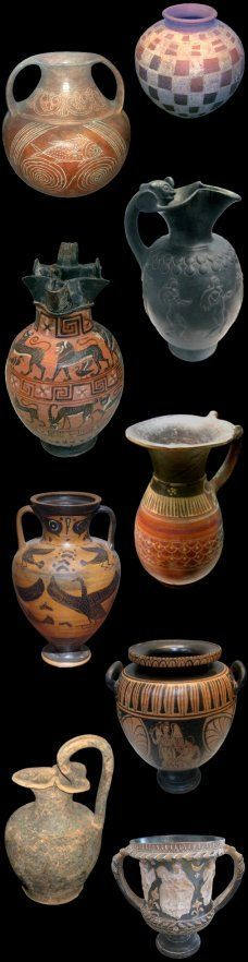 Etruscan pottery, 5th-4th century, BCE