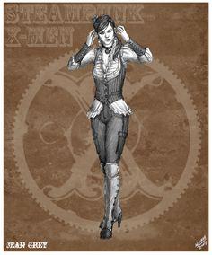 Jean Grey Steampunk Redesign by *sketcheronline on deviantART
