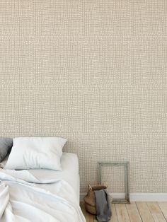 DOTS ABSTRACT BEIGE Peel and Stick Wallpaper By Kavka Designs - 2ft x 16ft