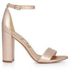 b8ca8b743bd Sam Edelman Yaro Ankle Strap Heels - Blush Gold ( 170) ❤ liked on Polyvore