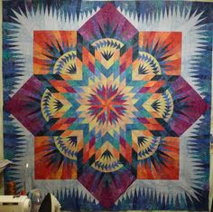 Linda West, from Alabama completed this Hawaiian Star, which she calls Hawaiian Sunset after taking a workshop with Judy at Quilting By the Bay in Florida in 2010!  Thanks for sharing Linda!  It's beautiful! ~ Quiltworx.com