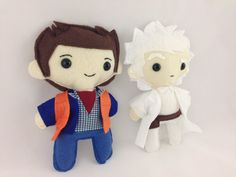 Marty McFly and Doc Brown Desk Plush Dolls by 2NerdGirls on Etsy