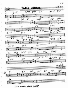 Jazz Standard Realbook chart BLACK ORPHEUS