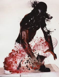 Tests, screen grabs and digital collages for WAR, by Nick Knight