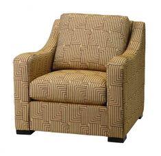 1153 - Massoud Furniture Blue Leather Chair, Armchair, Furniture, Home Decor, Sofa Chair, Single Sofa, Decoration Home, Room Decor, Home Furnishings