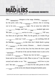 Resource image with printable mad libs sheets for adults