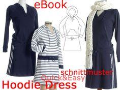 Kleider & Schürzen - Hoodie Dress SCHNITTMUSTER & NÄHANLEITUNG Gr:34-52 - ein Designerstück von schnittvision bei DaWanda