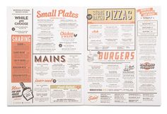 Revolution Food Menu Design