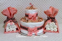 Baby Diaper Cake Pick your Print Boys Girls by Diannasdiapercakes, $50.00