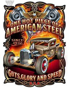 Vintage Motorcycles Muscle American Steel Metal Sign 18 x 24 Inches - Made in USA. From the Steve McDonald sign collection, this American Steel custom shape measures 18 inches by 24 inches and weighs Harley Davidson Road Glide, Harley Davidson Motorcycles, Classic Chevy Trucks, Classic Cars, Steve Mcdonald, Man Cave Metal, Custom Baggers, Garage Art, Garage Signs
