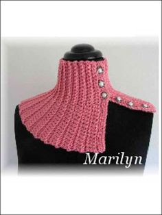 Crochet - Accessory Patterns - Neck Warmer & Cowl Patterns - Quick and Easy Scarflettes