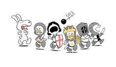 Monty Python meets the Peanut's gang :) ♥ Snoopy Charlie Brown Peanuts, Peanuts Gang, Thats 70 Show, Roi Arthur, Michael Palin, Monty Python, Geek Out, Calvin And Hobbes, Cheap T Shirts