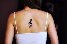 Music Note Back #Tattoo #GirlsTattoos #CuteTattoos #SmallTattoos #GirlyTattoos #TattoosForGirls #GirlTattoos