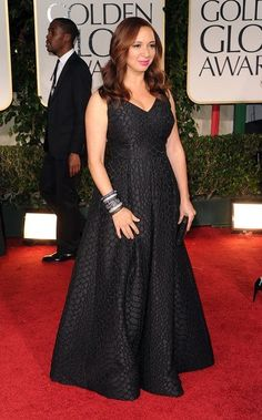 Maya Rudolph wearing M.C.L by Matthew Campbell Laurenza bracelets to the 69th Annual Golden Globe Awards held at the Beverly Hilton Hotel on January 15, 2012 in Beverly Hills, California