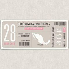 Kontrast Moderne Typografie Hochzeitseinladung von papertalkpress