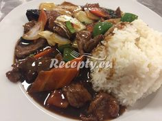 Hovězí maso po Sečuánsku recept - Recepty z hovězího masa - Recepty.eu Fish And Meat, Food 52, Asian Recipes, Food Videos, Ham, Crockpot, Grilling, Paleo, Food And Drink