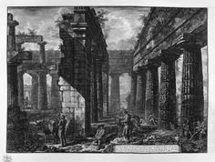 The Roman antiquities, t. 1, Plate XXIII. Aventine Hill. - Giovanni Battista Piranesi - WikiArt.org