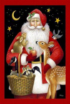 / santa claus / christmas illustration by stephanie stouffer / Father Christmas, Christmas Art, Christmas Holidays, Christmas Quotes, Vintage Christmas Cards, Christmas Pictures, Christmas Party Games, Christmas Decorations, Christmas Wreaths
